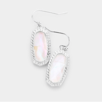 Mother of Pearl/Silver Shimmer Earring