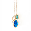 Meditteranean Blue Cluster Necklace
