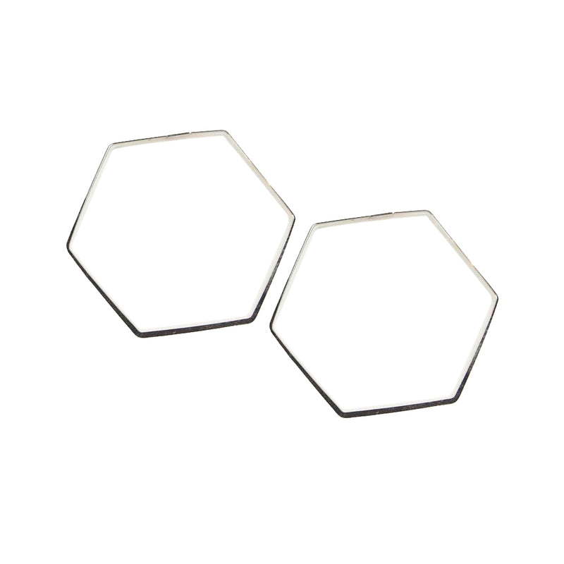 Hexagon Hoop-Silver