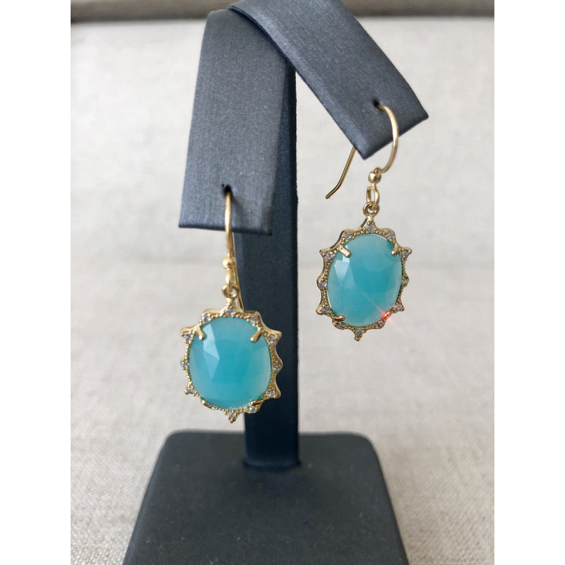Sample Sale! Aqua Crystal Earring