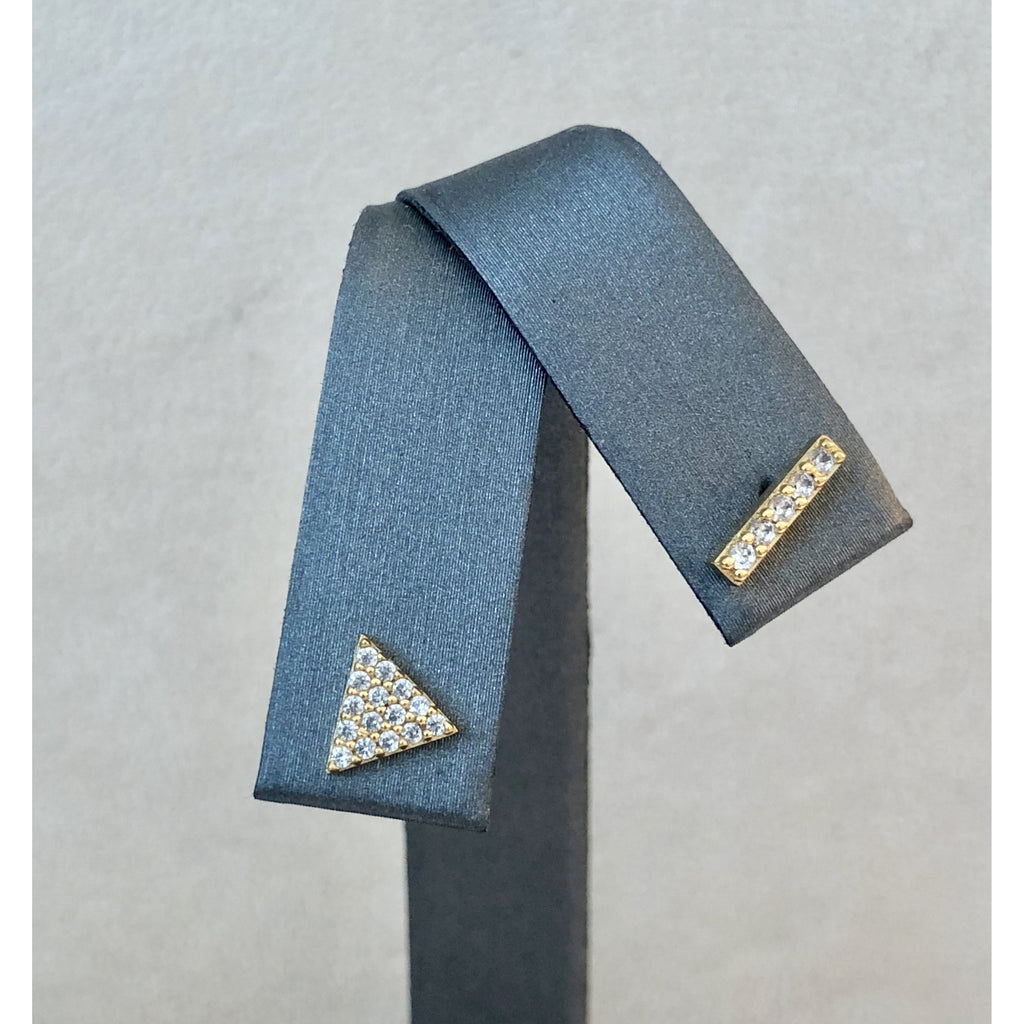 Sample Sale! Sterling Silver Pave Studs