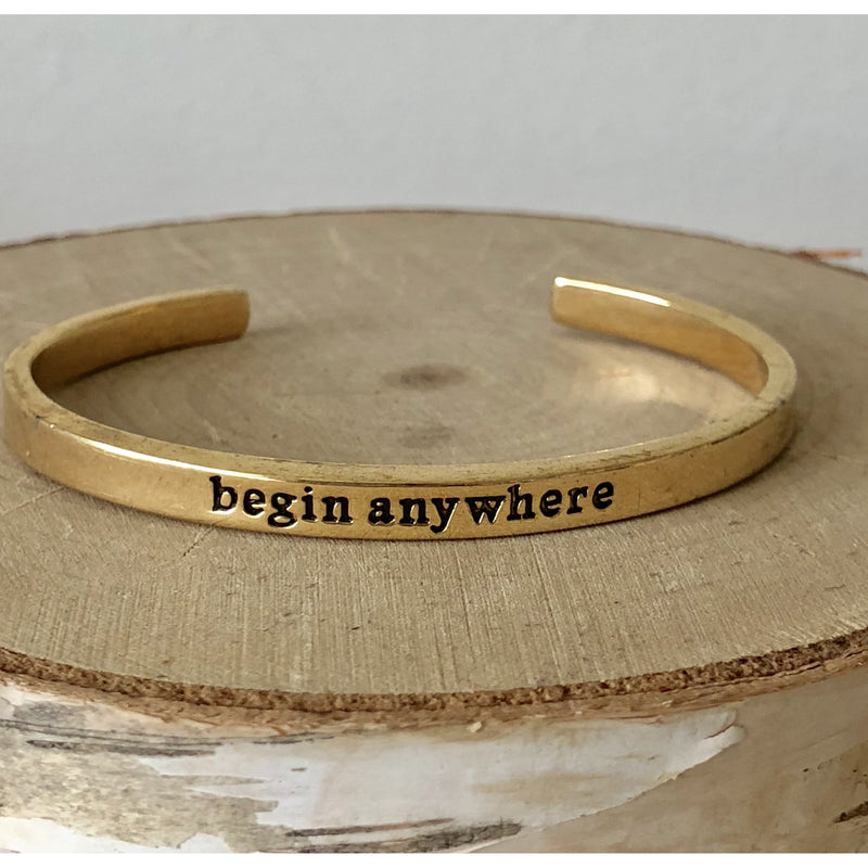 Sample Sale! Begin Anywhere Cuff-Gold