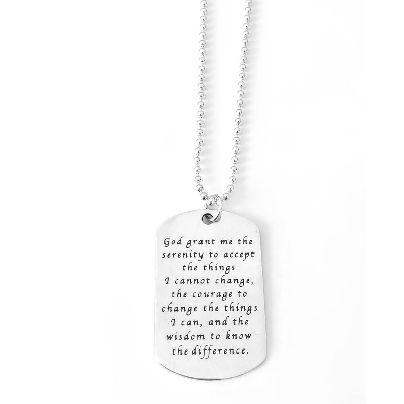 Large Serenity Prayer Dog Tag