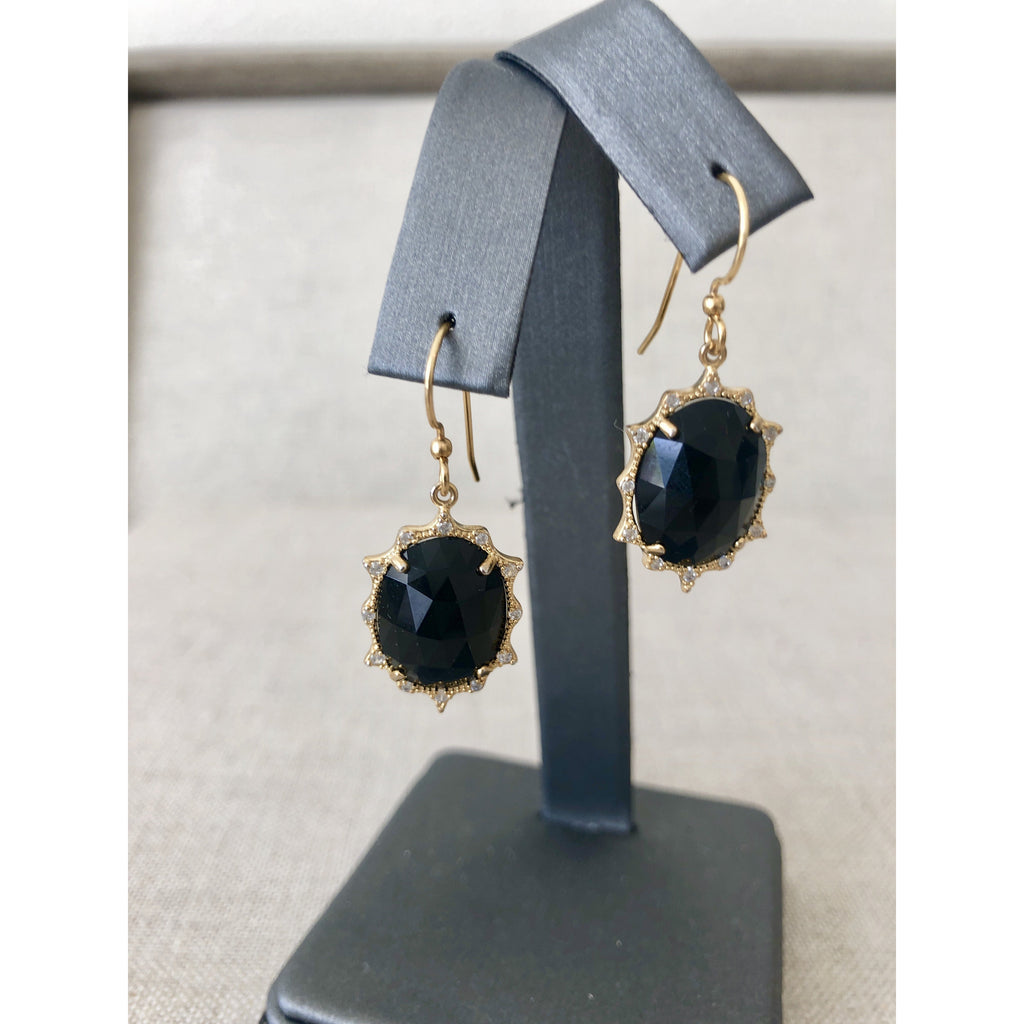 Sample Sale! Black Crystal Earring