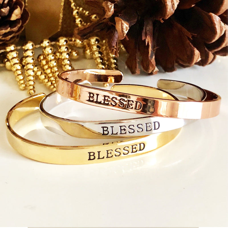 Blessed Cuff-Gold Plate
