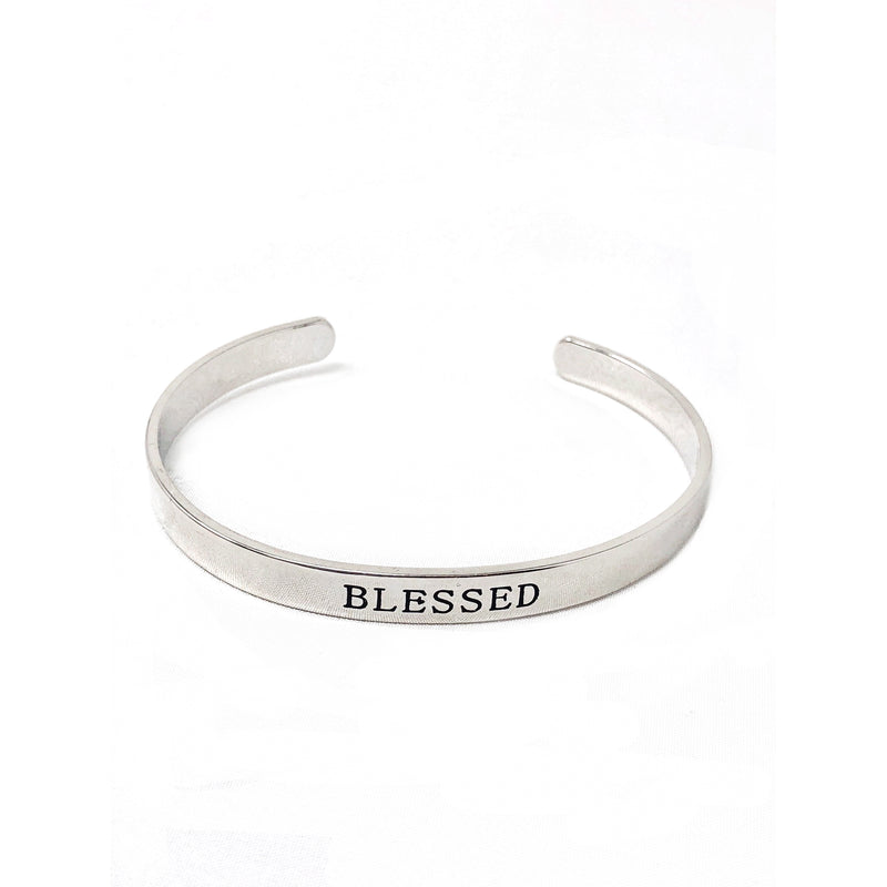 Blessed Cuff-Rhodium Plate