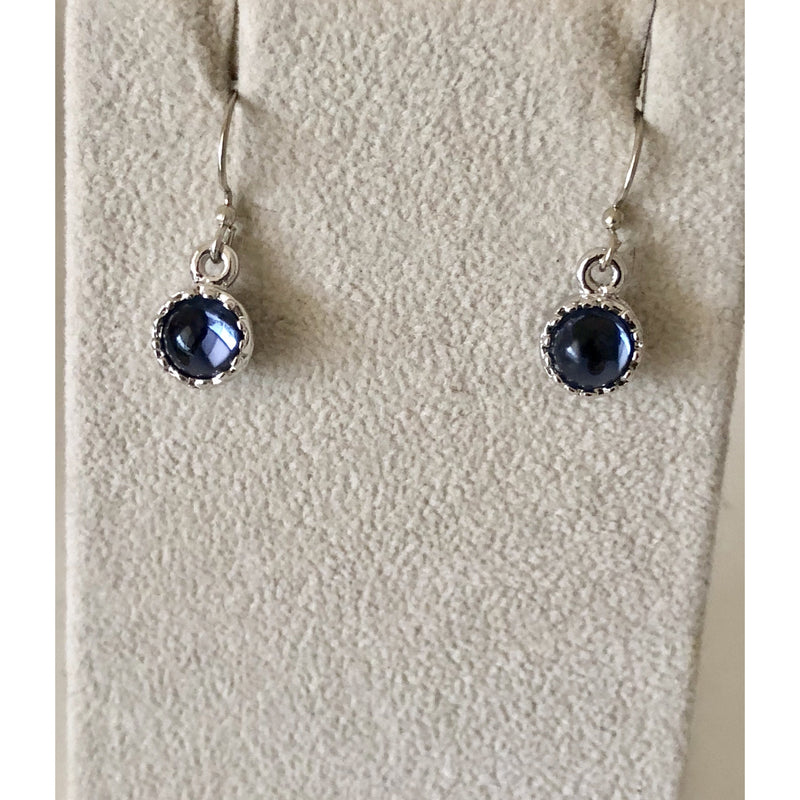 Sample Sale! Blue Cabochon Drop Earring