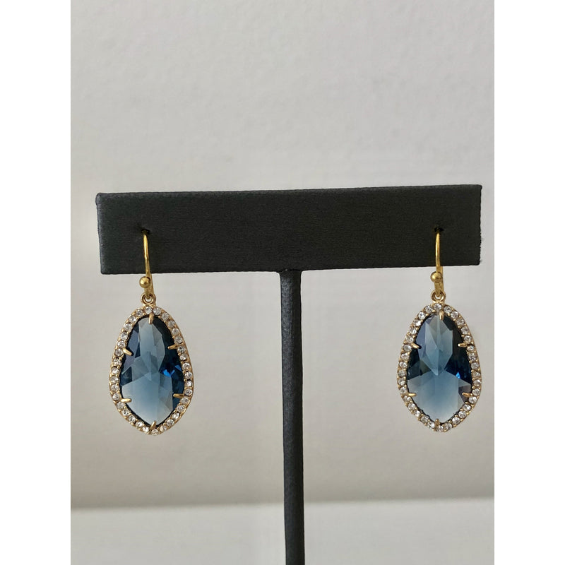 Sample Sale! Cut Blue Drop Earring
