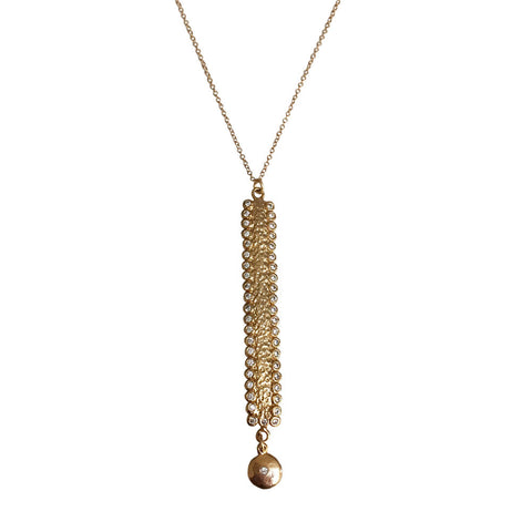 Textured Pave Trisha Necklace