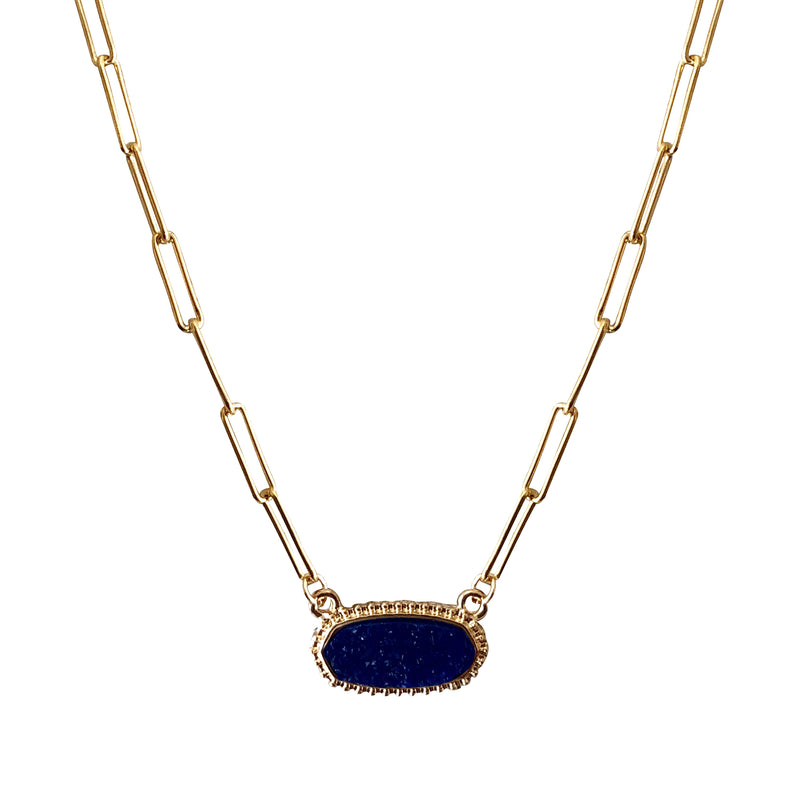 The Fast Flash! Cobalt Druzy Necklace