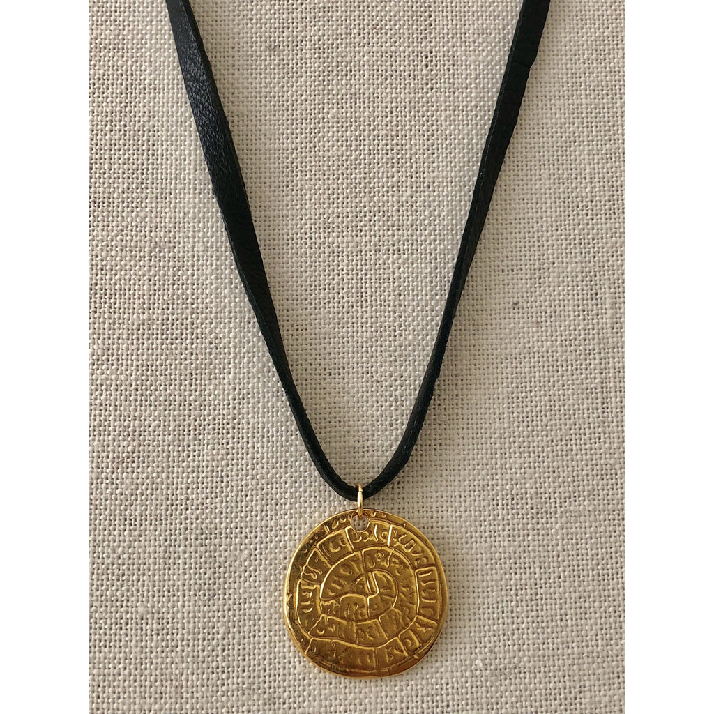 Sample Sale! Coin Leather Choker