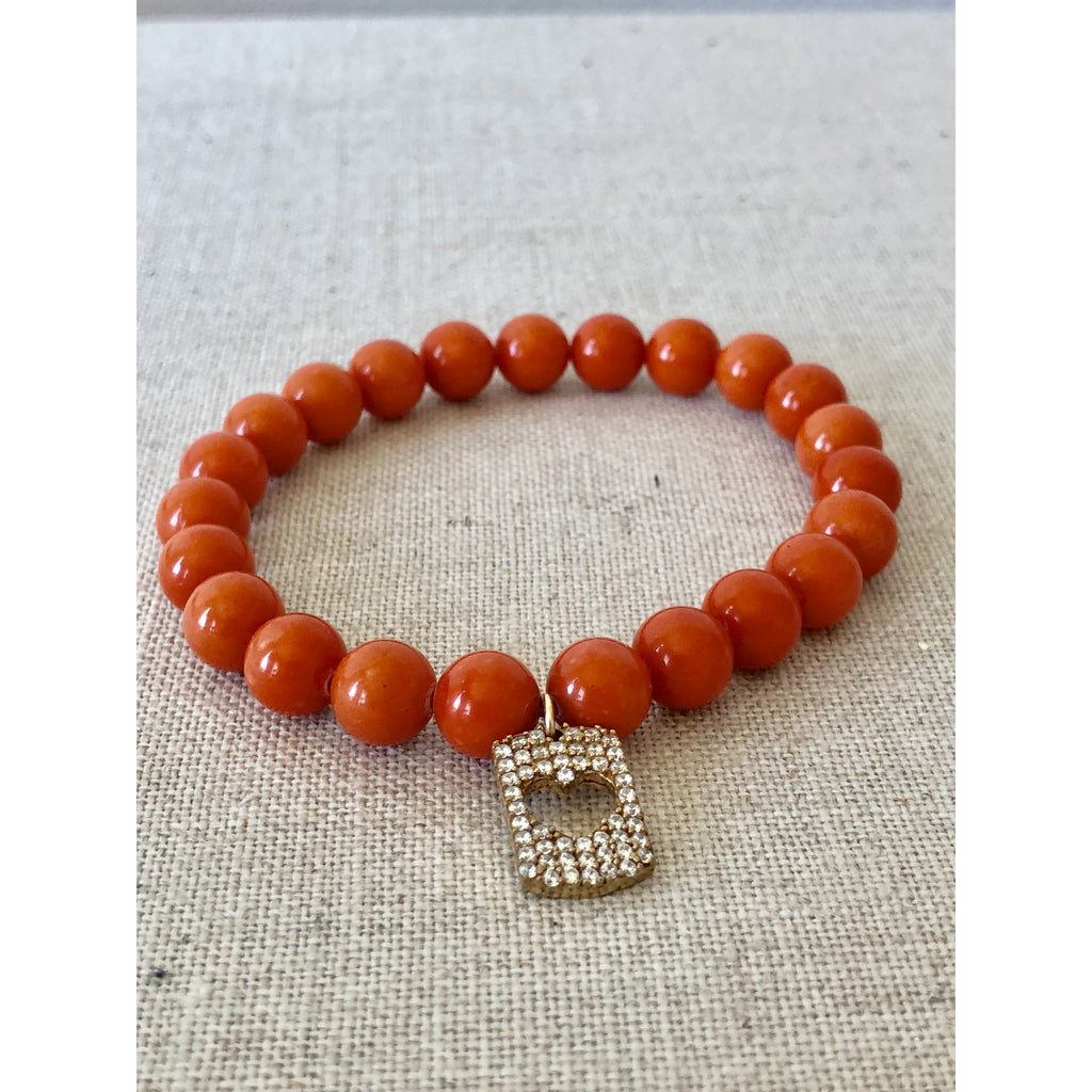 Sample Sale! Coral Prayer Bead Bracelet