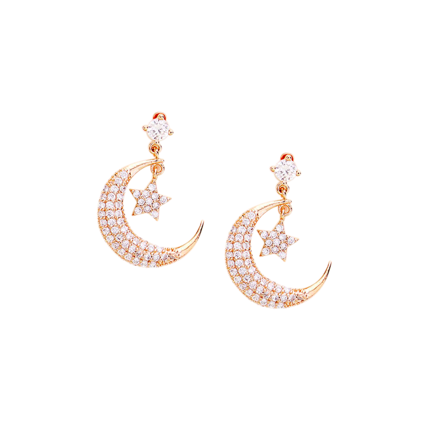 Crescent Moon/Star Earring