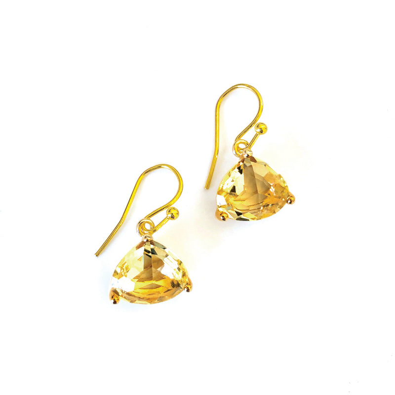 Everyday Crystal Earring Lemon/Gold