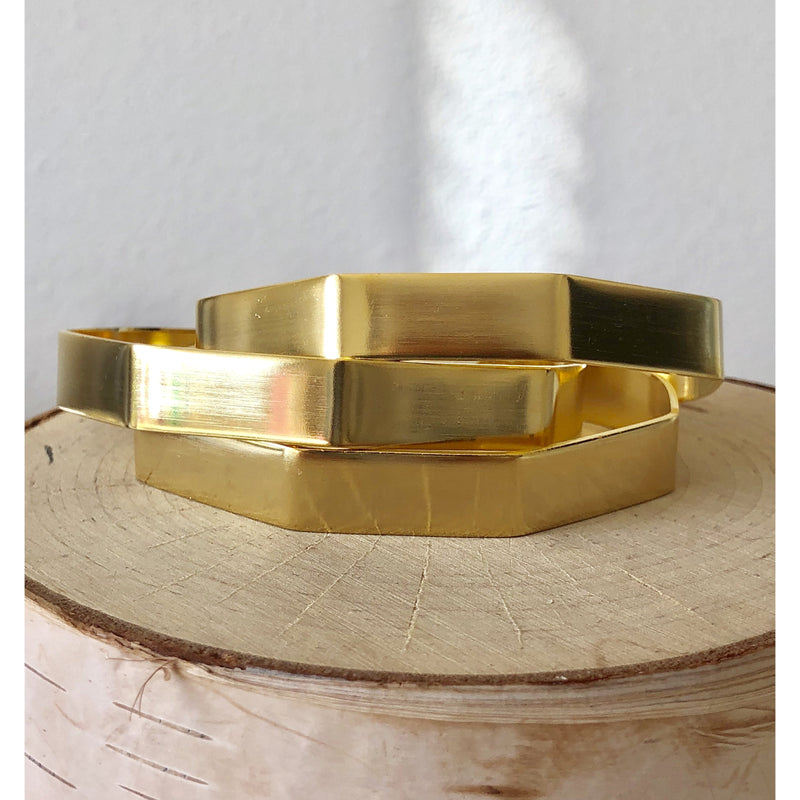 Sample Sale! 5 Sided Gold Cuff