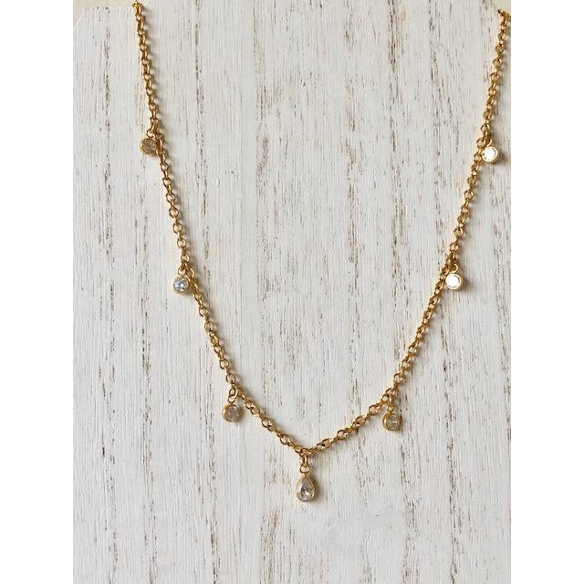 Sample Sale! CZ Drop Necklace