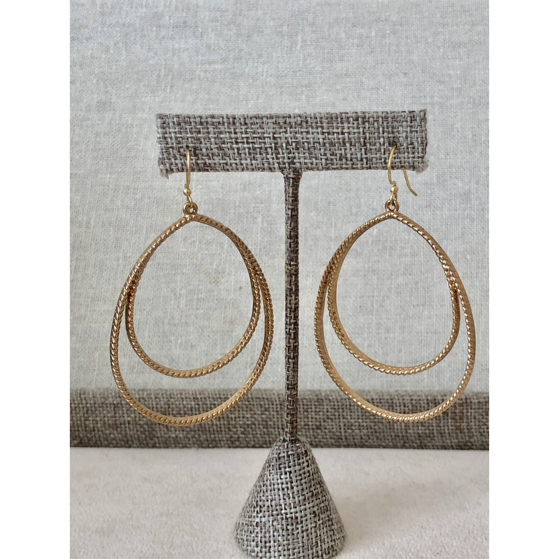 Sample Sale! Maxi Double Teardrop Earring