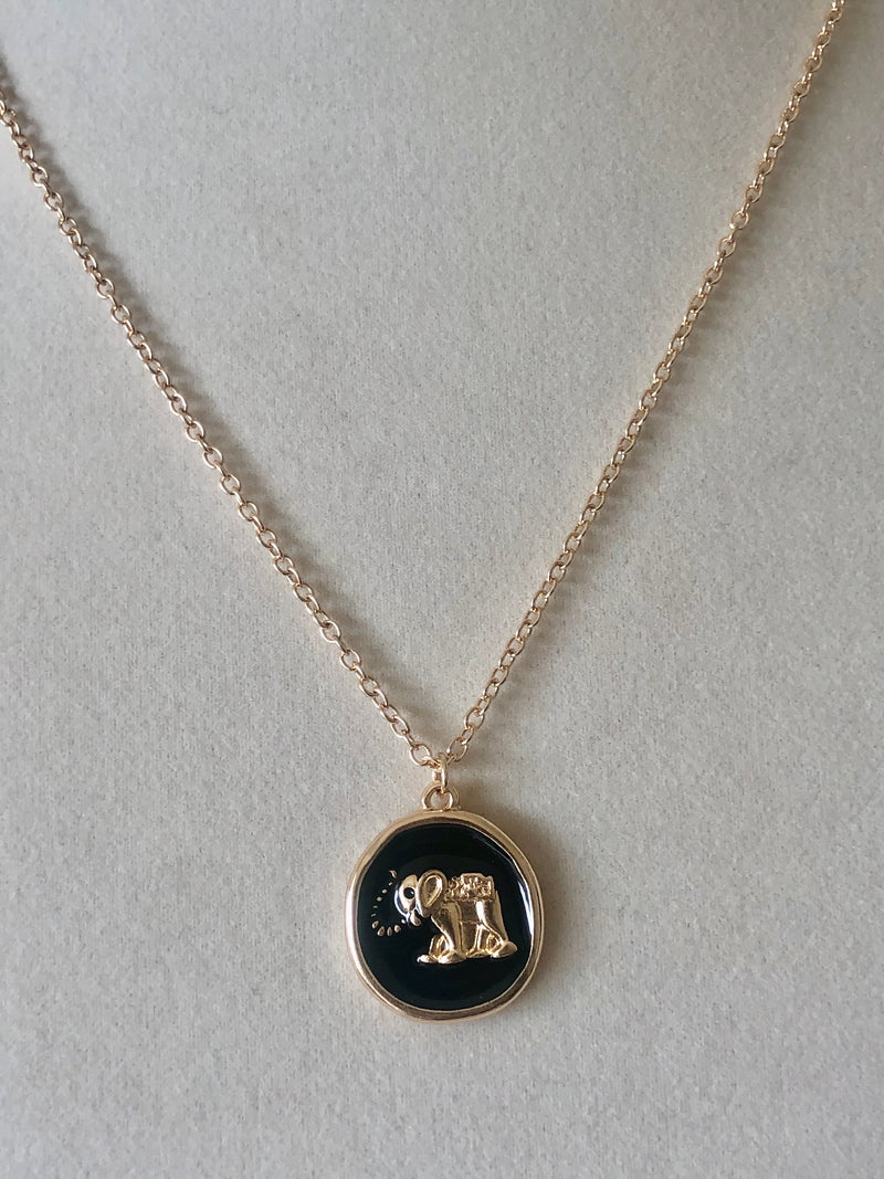 The Fast Flash! Enamel Elephant Necklace