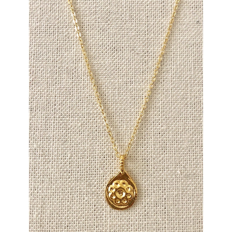 Sample Sale! Flower Coin Necklace