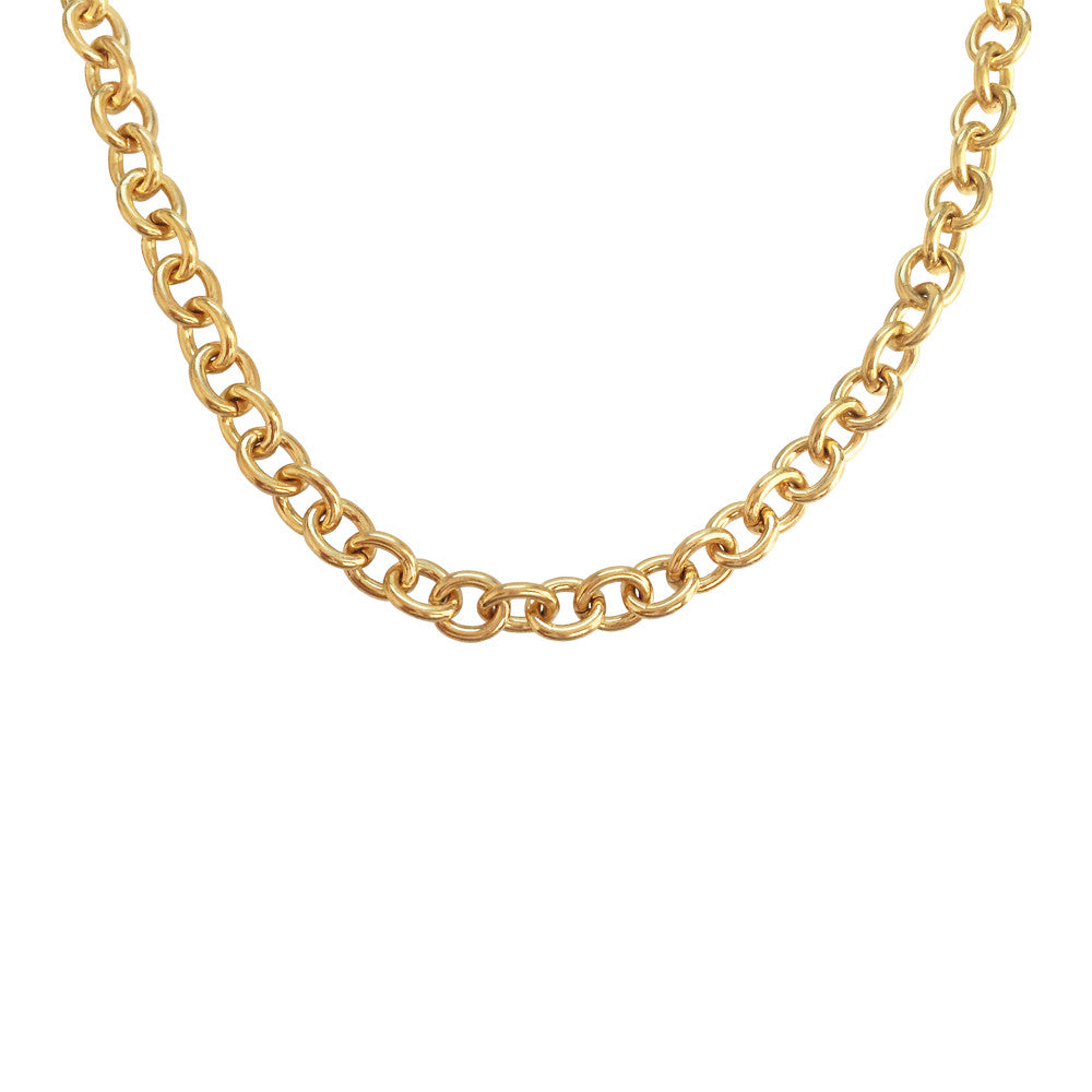 Chain Link Choker Necklace
