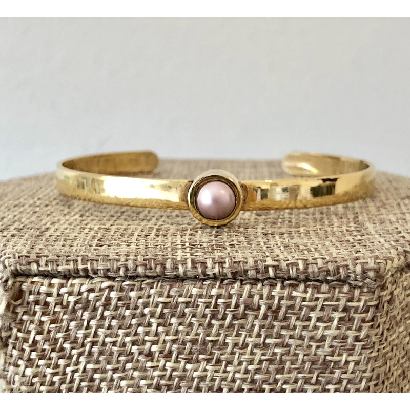 Sample Sale! Pink Pearl Cuff