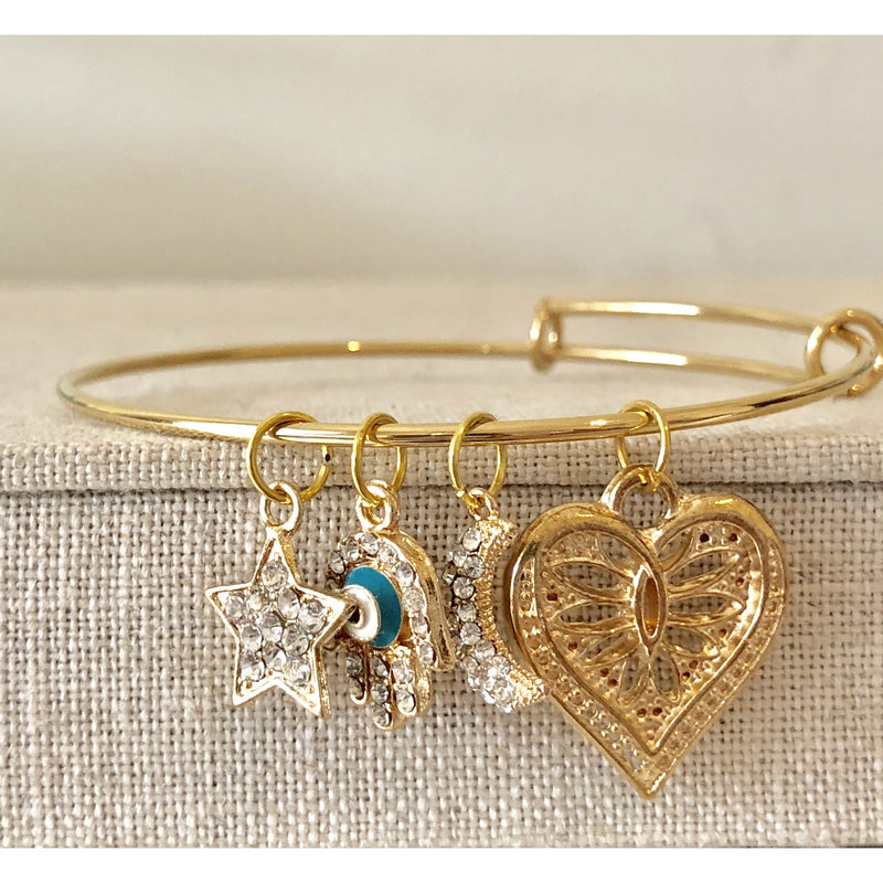 Sample Sale! Gold Charm Bangle