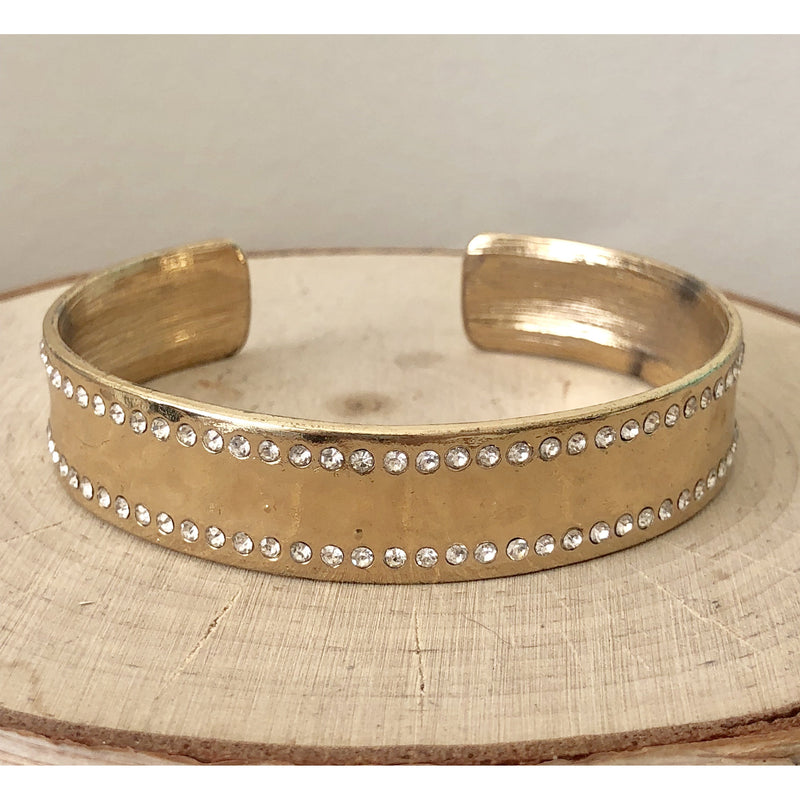 Sample Sale! Gold and Crystal Cuff