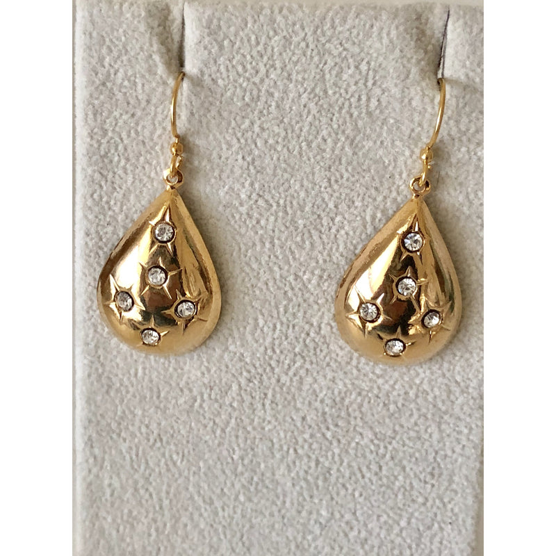Sample Sale! Pear Drop Earring-Crystal