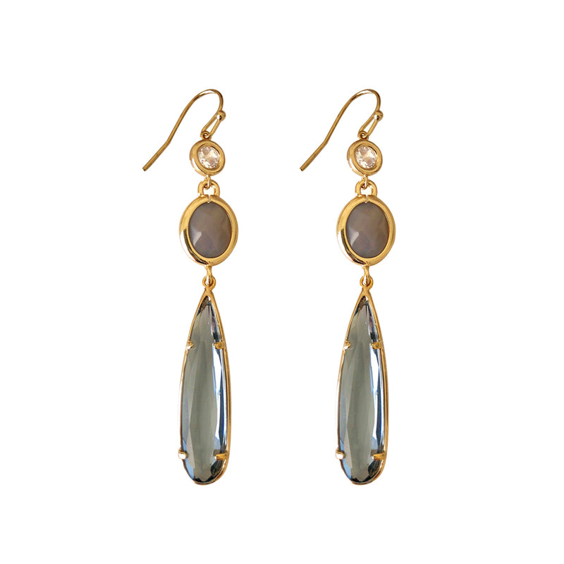 Silver Grey Labdorite Drop Earring