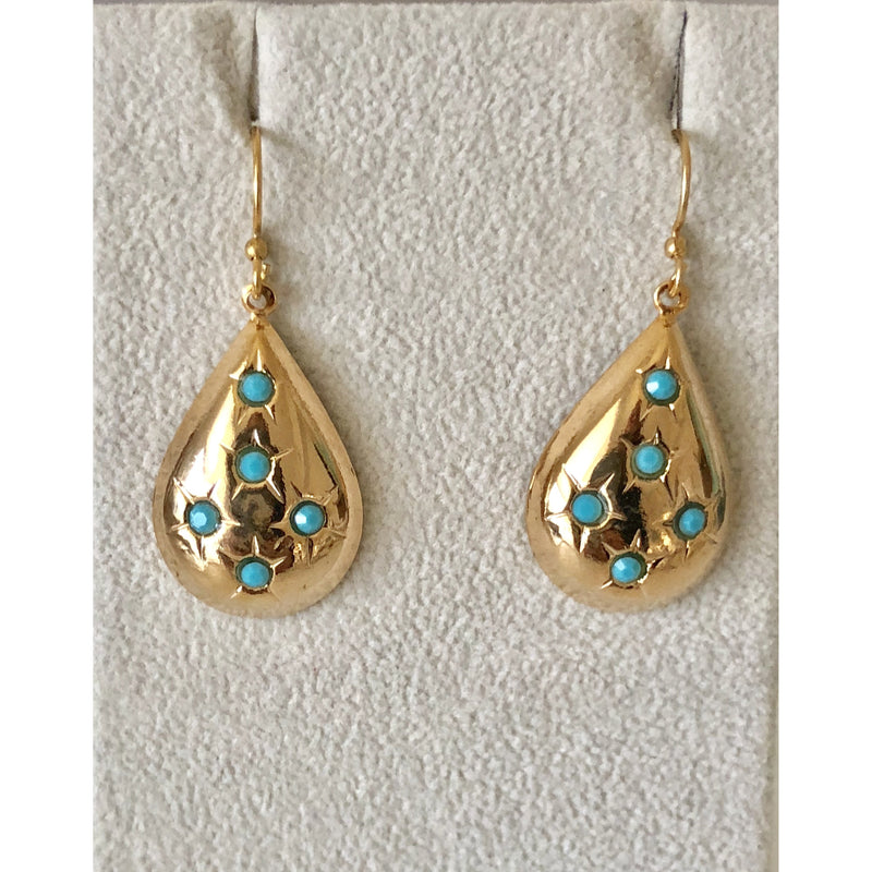 Sample Sale! Pear Drop Earring-Turquoise