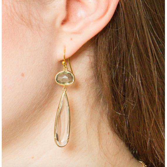 Oval Drop Earring