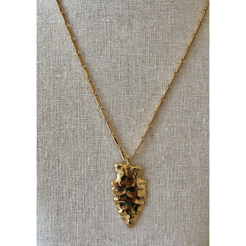 Sample Sale! Hammered Arrowhead Necklace