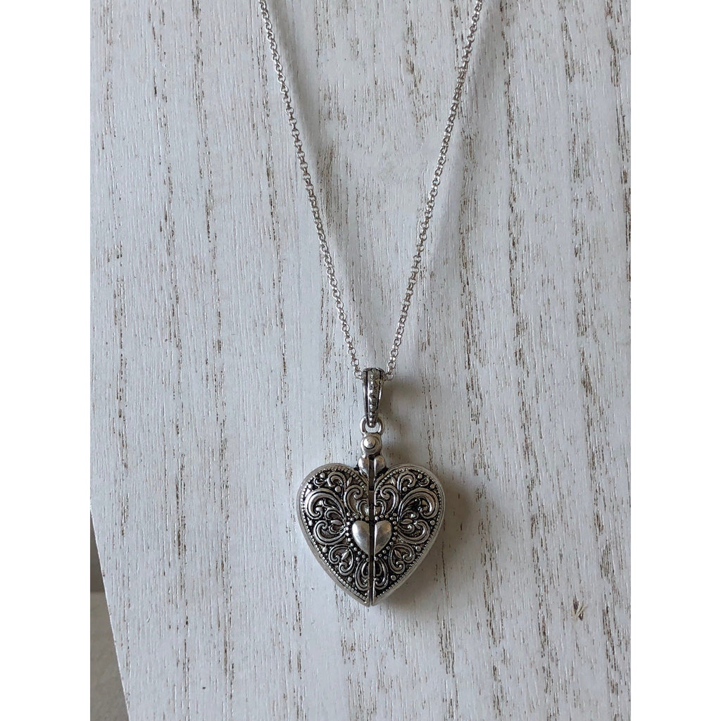 The Fast Flash! Hidden Message Locket-Silver Heart
