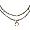 Beaded Horseshoe Choker-Hematite