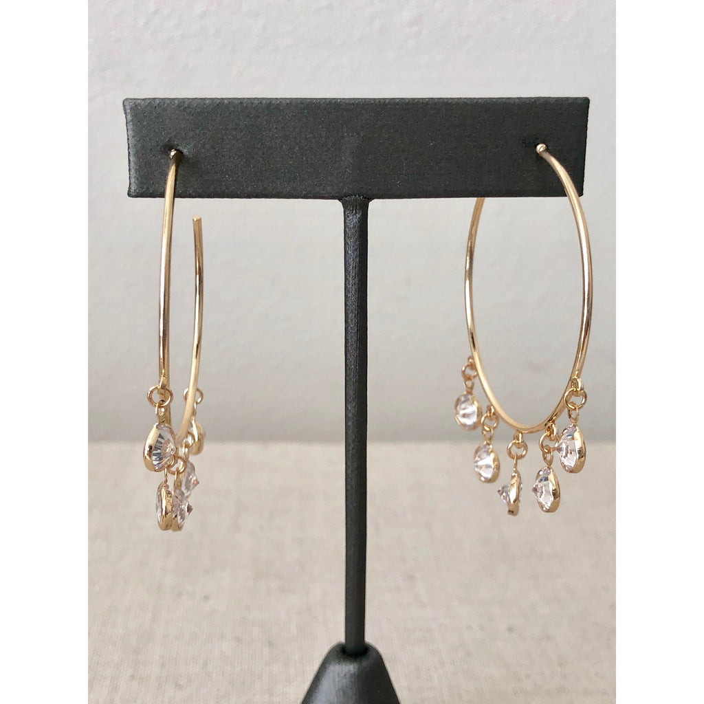 Sample Sale! Crystal Dangle Hoops