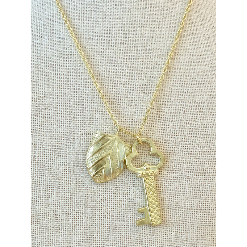 Sample Sale! Key and Shield Necklace