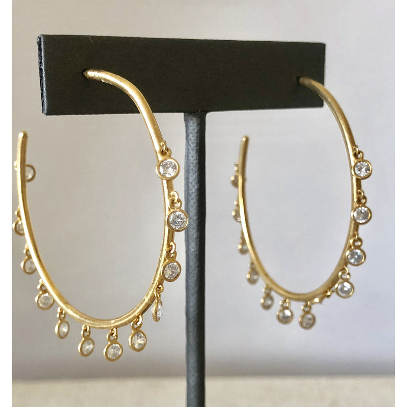 Sample Sale! Maxi CZ Dangle Hoop