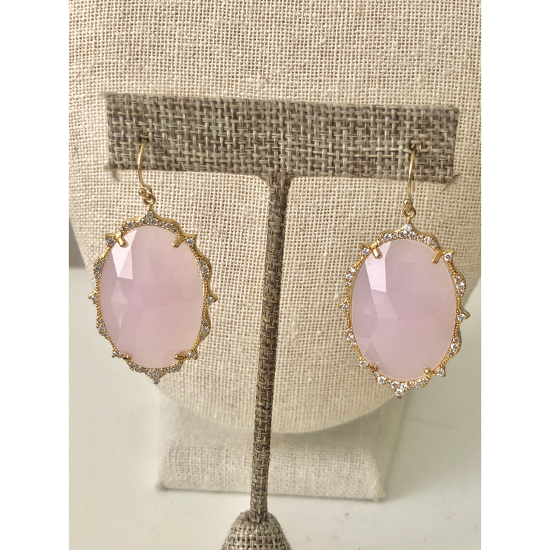 Sample Sale! Large Pink Crystal Earring