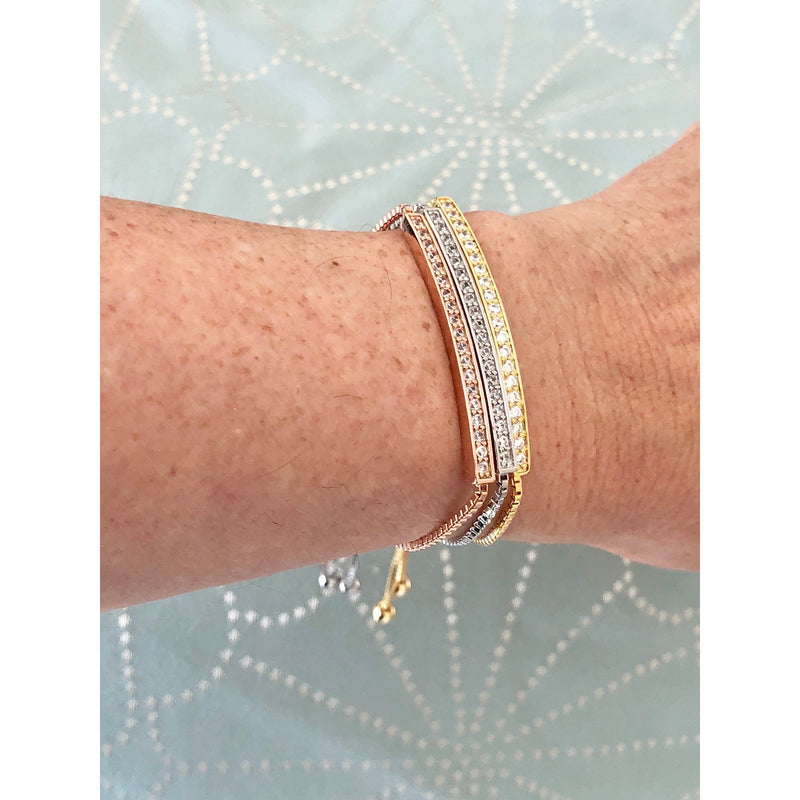 Lariat Bracelet with CZ Bar