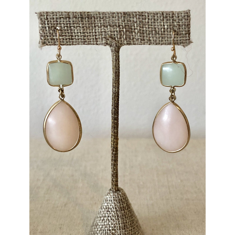Sample Sale! Peach/Mint Drop Earring