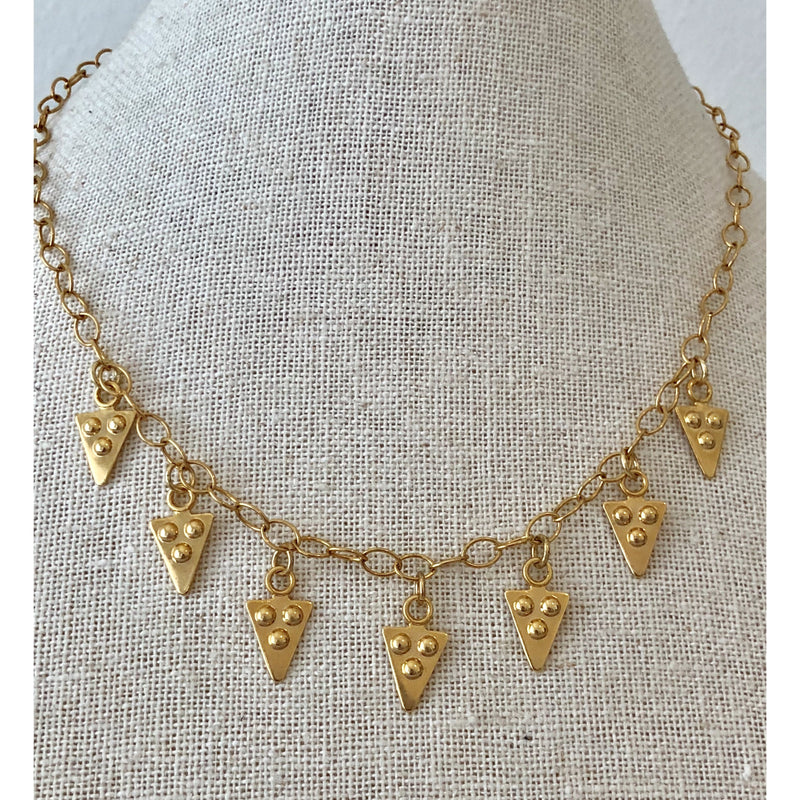 Sample Sale! Arrowhead Drop Necklace