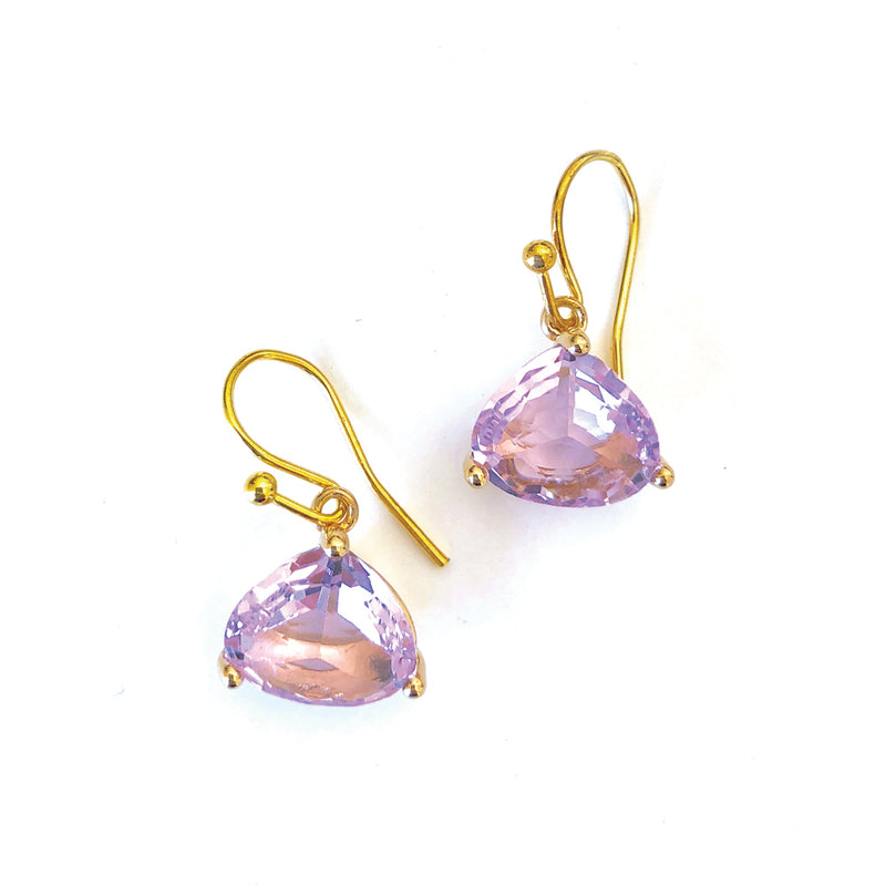 Everyday Crystal Earring Lavender/Gold