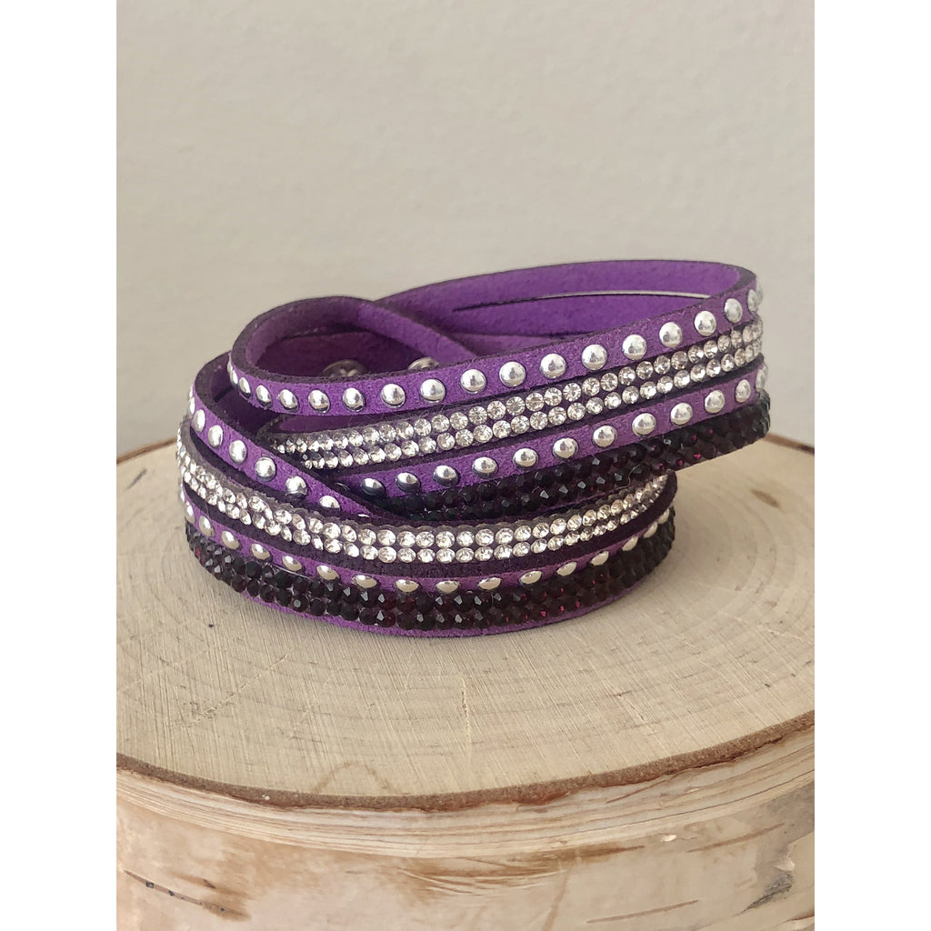 Sample Sale! Purple Wrap Bracelet