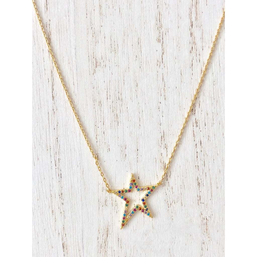 Sample Sale!  Rainbow Star Necklace