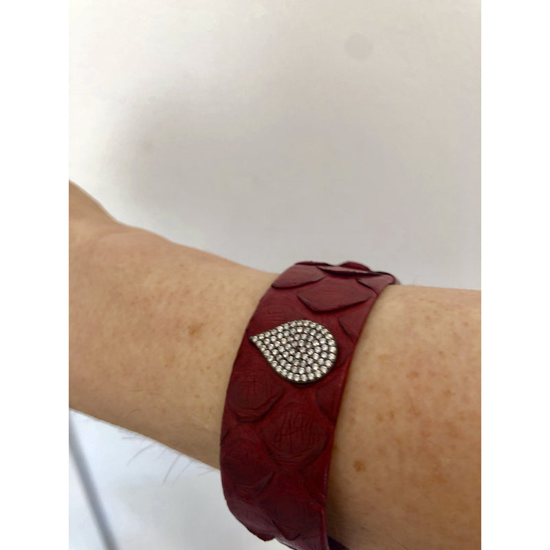 Sample Sale! Red Leather Cuff