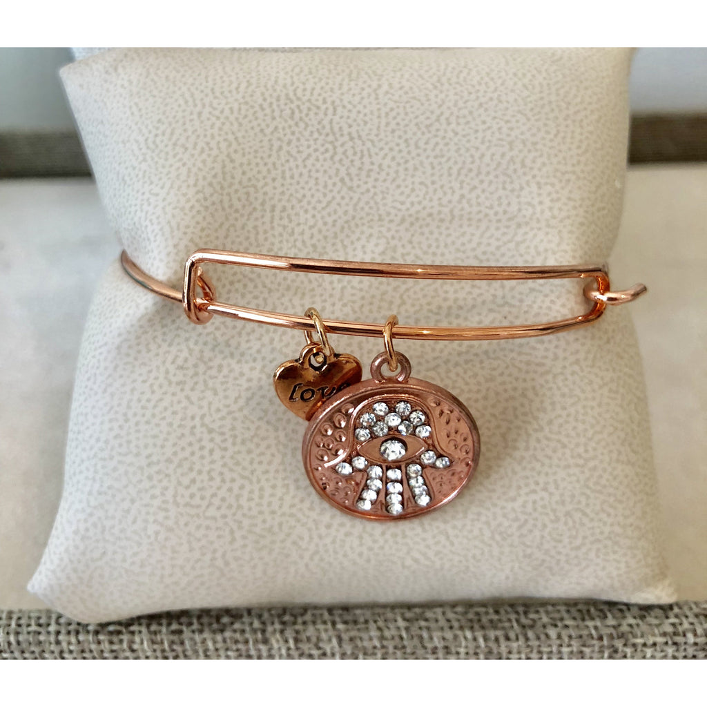 Sample Sale! Rose Gold Charm Bangle