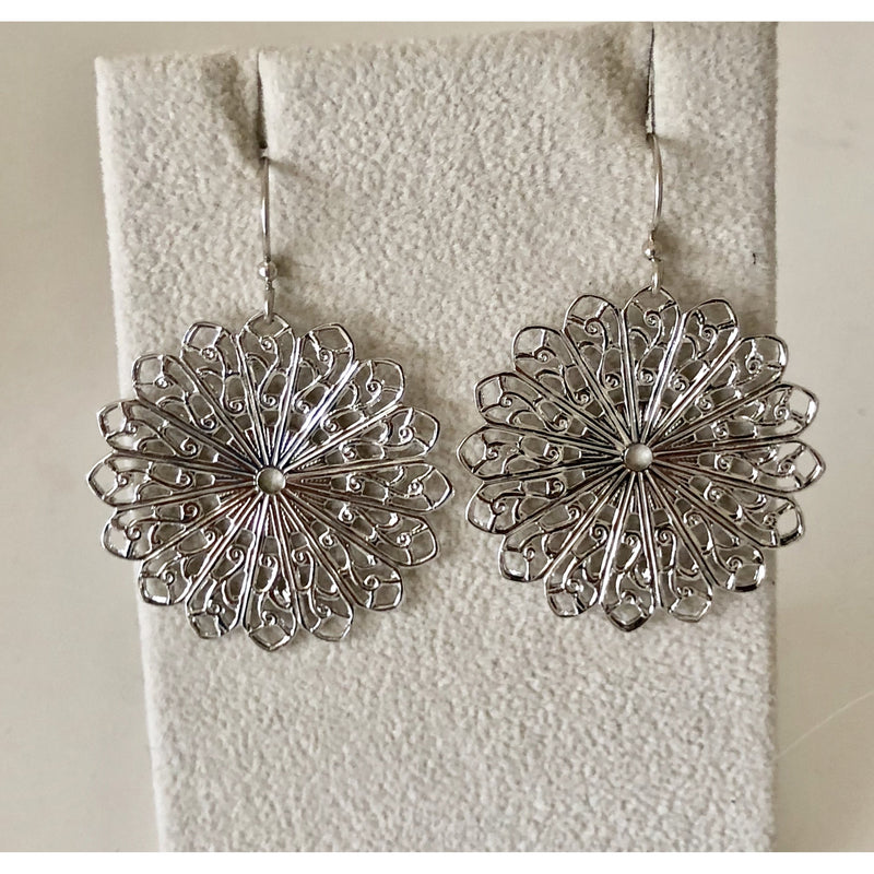 Sample Sale! Round Filigree Circle Earring