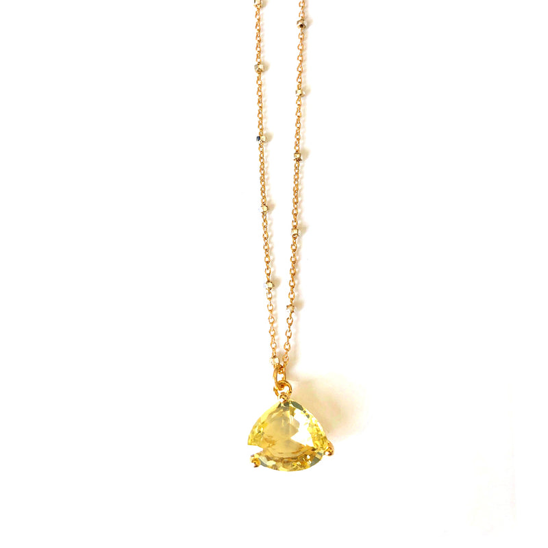 Lemon Yellow Drop Necklace