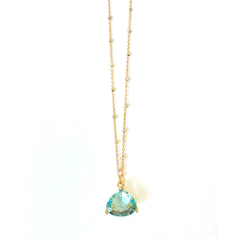 Seafoam Green Drop Necklace
