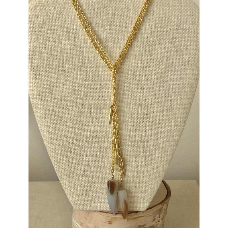 Sample Sale! Shark Tooth Lariat